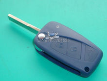 Replacement For Fiat key flip remote key shell 3 button