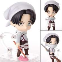 New Nendoroid 417 # Levi Cleaning Version Anime Attack On Titan PVC Action Figure no retial box (Chinese Version)