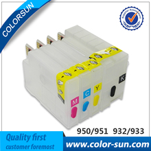 4Colors New Refillable Ink Cartridge for HP 932 933 Cartridge for HP Officejet 6100 6600 6700 7610 7612 Printer