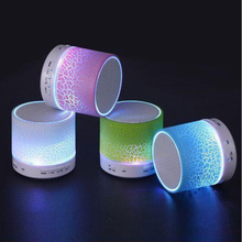 Hangrui A9 LED Bluetooth Speaker Card Mini Speakers Night Light Hands Free Portable Wireless Speaker FM Music Player USB Speaker(China)