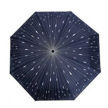 Creative Shooting Star Three-folding Umbrella Rain Women and Men's Umbrella Fashion Umbrella Novelty Items(China)
