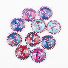 Newest 25mm Flat Round Anchors Photo Glass Cabochons 50Pcs Patriotic Style Image Glass Dome Fit DIY