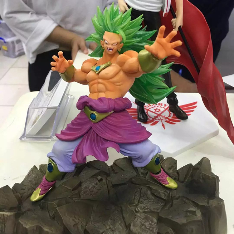 17cm Dragon Ball Z Super Saiyan Broly Anime Action Figure PVC Collection Model toys brinquedos for christmas gift free shhipping<br>