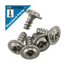 HWEXPRESS 304 Stainless Steel Round Head Self Tapping Screw With Pad Stabilizer M4*8