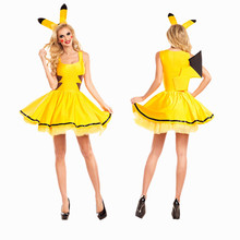 Halloween Pikachu women performance costume Pokemon Cosplay Costume party Cosplay Apparel Angel(China)