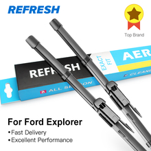 REFRESH Wiper Blades for Ford Explorer Fit Pinch Tab Arms 2011 2012 2013 2014 2015 2016(China)