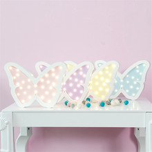 Nordic Style Led Neon Sign Butterfly Night light Baby's Room Wall Decorations Cartoon Decor Coffee/Bar Mural Best Gifts For Kids(China)
