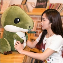 Dorimytrader Hot Big Anime Dinosaur Plush Toy 55cm Giant Soft Cartoon Dinosaurs Stuffed Pillow Kids Play Doll Present DY61529