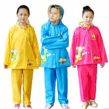 Cartoon Animal Rain Coat &Pants Suit Poncho,Girl's Boy's Transparent Raincoat For Children Kids Chubasquero Set Winter