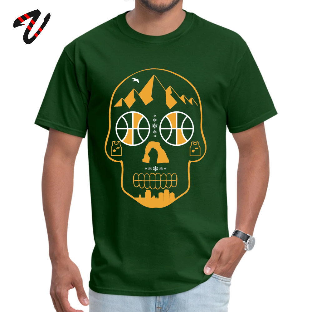 Utah Sugar Skull Personalized Short Sleeve Tees Summer Fall O-Neck 100% Cotton Men T-Shirt Personalized Clothing Shirt 2018 New Utah Sugar Skull10661 dark