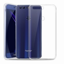 Flexible Soft TPU Case Transparent Clear Back Cover for Huawei Honor 8 Slim Protector Premium Crystal Mobile Phone Accessories