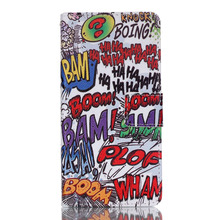 COOL HAHA BOOM BAM DOODLE Design Pu Leather Stand Flip Wallet Skin Pouch Cover Case For Lenovo K3 A6000 New