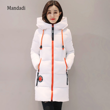 2017 Winter jacket women Thick Long Women Parkas Hooded Female Outwear Coat Down Cotton Padded Snow Wear(China)