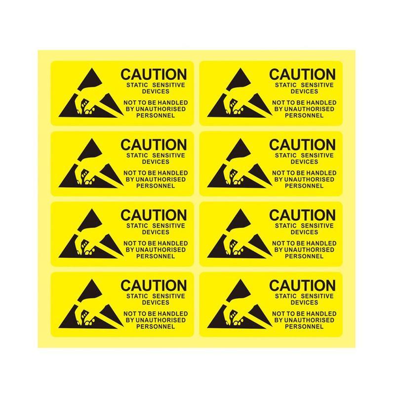 Pegatinas de Advertencia 7 x 5 Pulgadas con ingl/és Pegatinas de se/ñal de Entrada y Salida Autoadhesivo calcoman/ía de Advertencia para Tapa Color Blanco