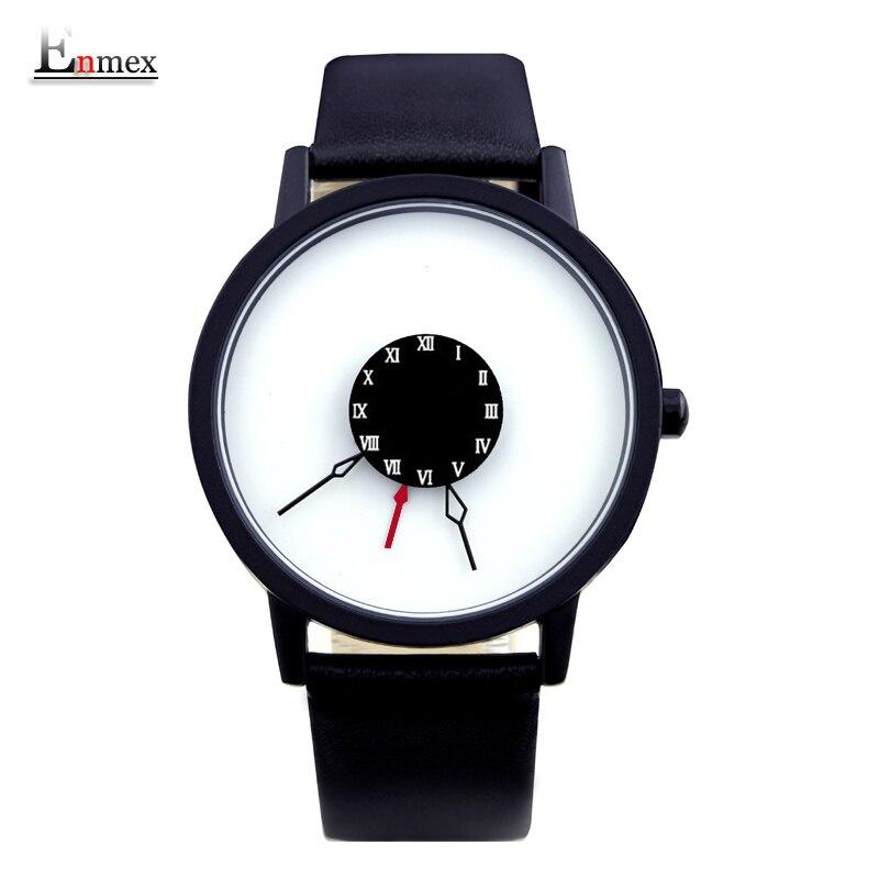 2016 men gift Enmex brief design creative Upside down hand unique design for young fashion unique quartz watches<br><br>Aliexpress