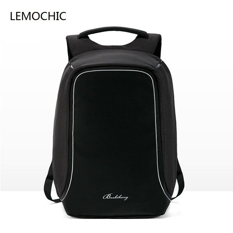 LEMOCHIC new arcuate shoulder bag business softback computer backpack simple mochila notebook hot sale travel waterproof men bag<br>
