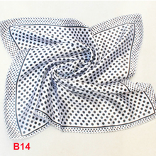Fashion Brand Female 50cm white dots scarf bandanas handkerchief neckerchief  Polyester Square Scarf/Shawl For Ladies b014