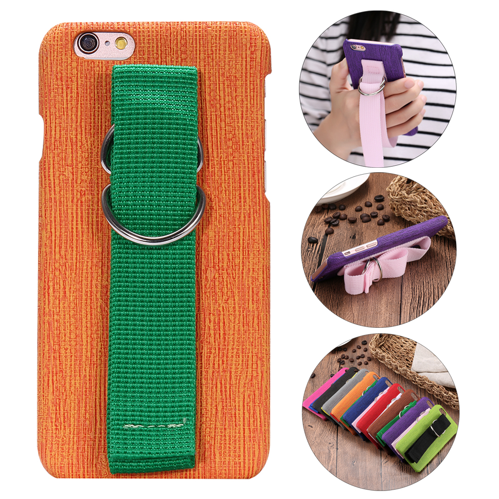 QALART Hybrid Color Easy Secure Grip Wrist Arm Band Strap Tape B Kickstand Hard Back Case Cover for iPhone 5 5s 6 6s 7 & Plus(China (Mainland))