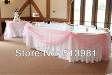 1.35*5M unit 21corlors Sheer Mirror organza Stiff Fabric For Wedding Drape Decoration Discount light pink colour(China)