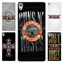 Hot sale  guns n roses Clear Cover Case for Sony Xperia Z1 Z2 Z3 Z4 Z5 M4 Aqua M5 XA XZ C4 E5 l36h
