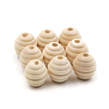 JOJOCHEW Wooden Beads Bee Unfinished Natural Wooden Teething Beads For Baby Care BPA Free Crafts Jeweling Making 50pcs(China)