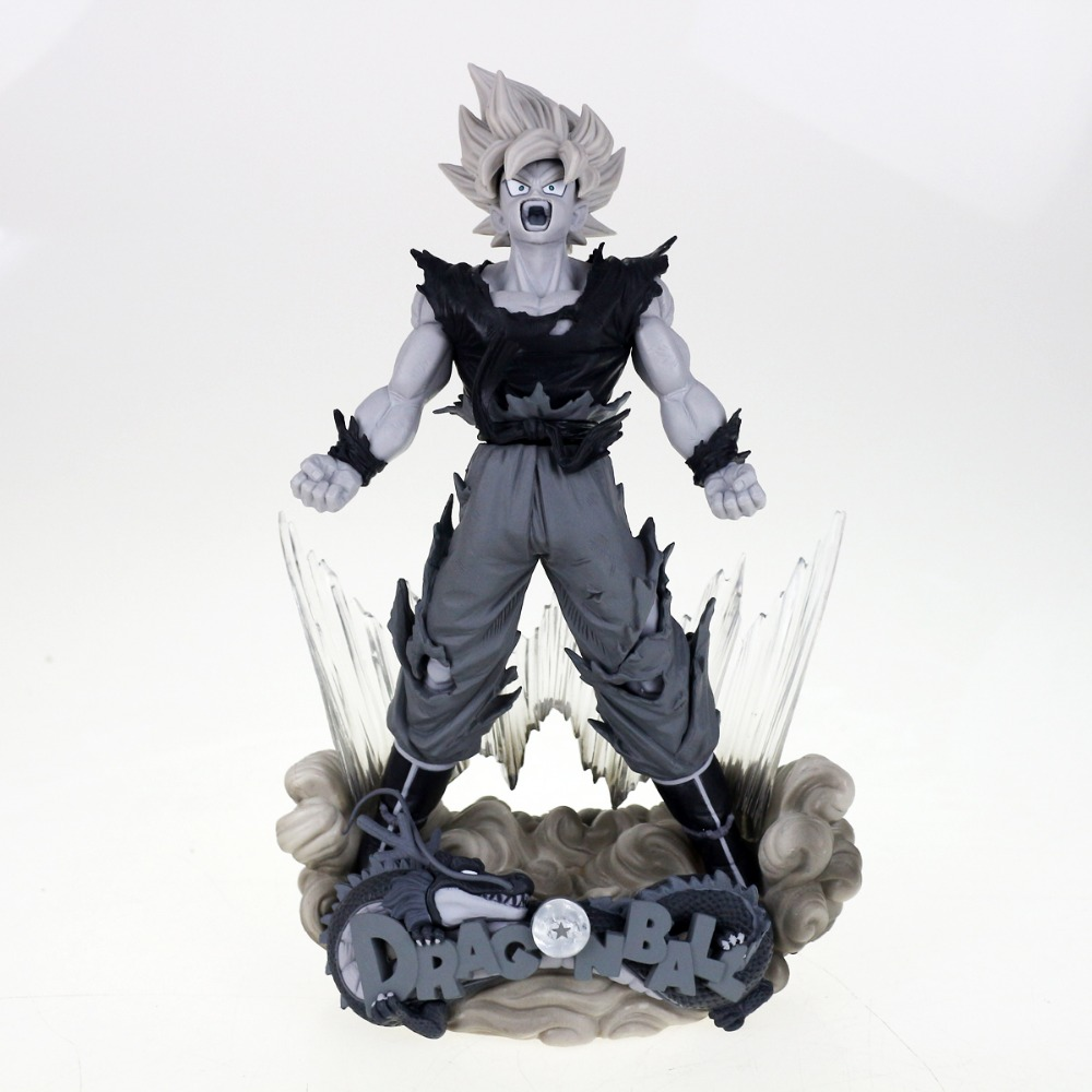 Anime Dragon Ball Z Super Master Stars Diorama The Son Goku The Brush 9 Figure Gray Free Shipping<br>