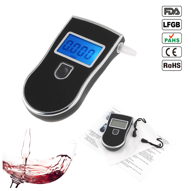 2017 New patent Protable Police Breathalyzer Analyzer Detector Digital LCD Alcohol Breath Tester AT-818(China)
