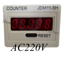 JDM11-5H 5 Digit Display Electronic Digital Counter relay AC220V