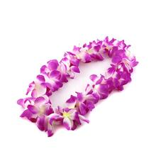 Fashion Hawaii Tropical Hula Grass Dance Flower Necklace Garland Fun Hawaiian Party Party Supplies(China)