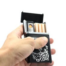 Multifunctional Cigarette Case with usb Rechargeable Electronic Lighter Cigarette box
