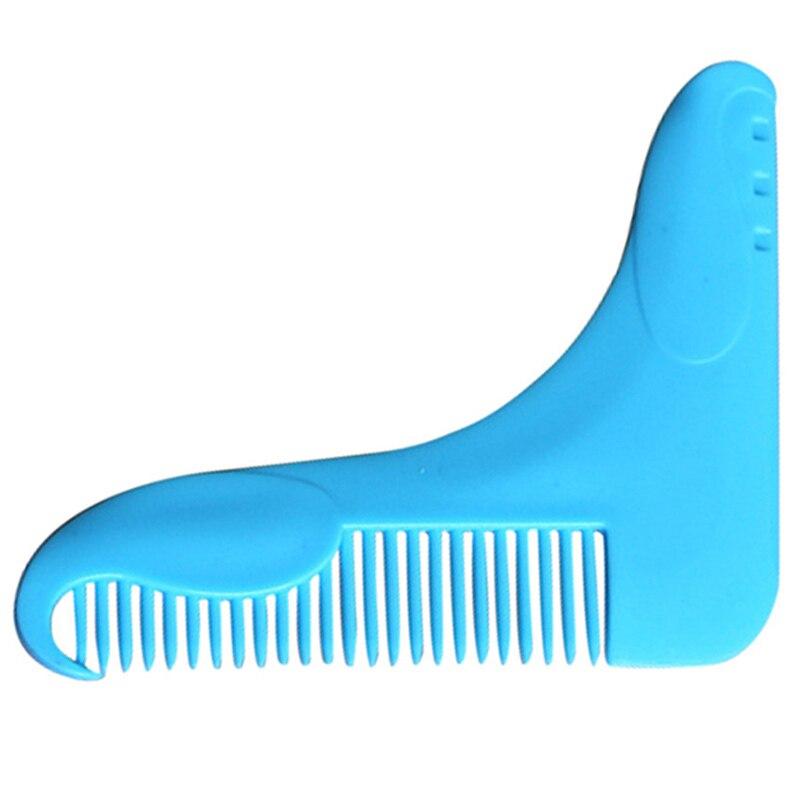 New Style Beard Shaping Tool Comb Hair Styling Template Beard Shaper Shaving Brush Hair Trim Modelling Shaving Tool Comb P0170