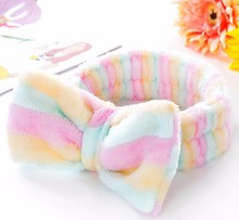Lacontrie Spa Bath Shower Make Up Wash Face Cosmetic Headband Hair Band Velvet Headband Headbands Wash Face Makeup and Beauty
