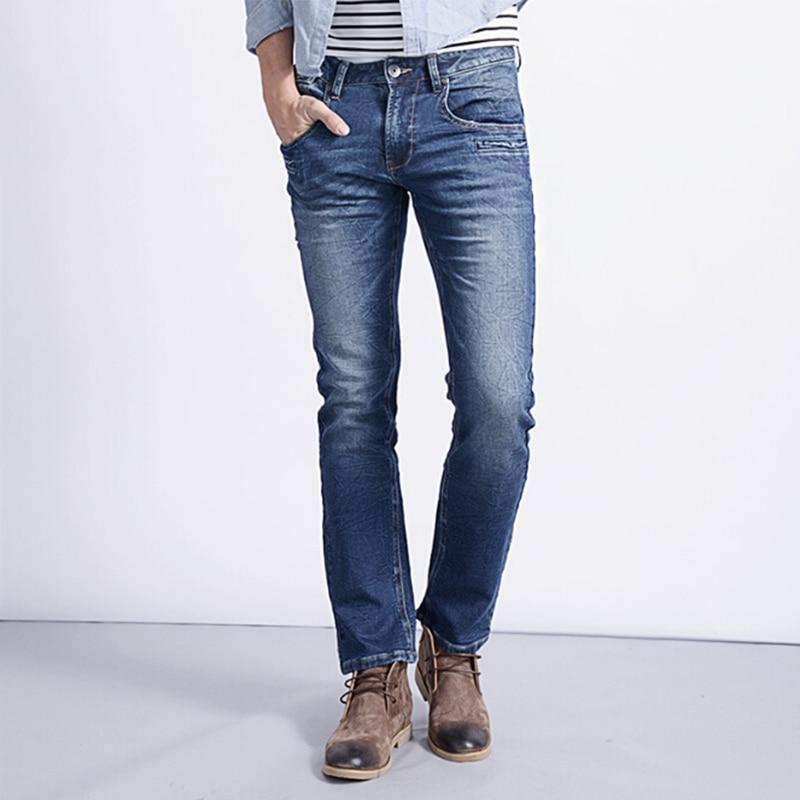 2017 New autumn fashion mens casual stretch cotton denim jeans mens long pants tight pants solid color large size 28 to 38Îäåæäà è àêñåññóàðû<br><br>
