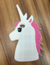 Fashion 3D Cute Cartoon Unicorn Soft Silicon Rubber Case Cover For iPhone 4S Case White Horse Case(China)