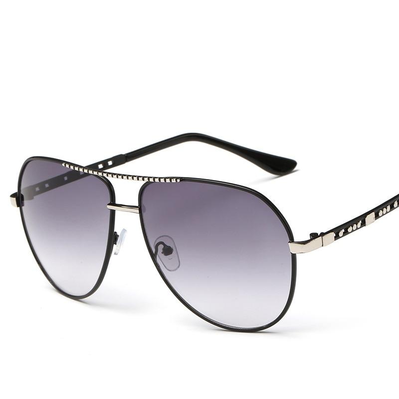 2017 Big frame metal sunglasses women men glasses oculo lentes oculos gafas de sol feminino lunette soleil masculino mujer male<br><br>Aliexpress
