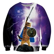 Alisister lightning cat hoodies 3d punk tie-dye Thundercat graphic sweatshirts Thunder cat Sudaderas mujer sweat homme moleton