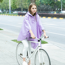 Free shipping Fashion Women pure and fresh Riding Raincoat Poncho Portable Light Raincoat NOT Disposable Rain Coat For Adult(China)