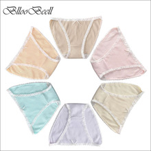 Buy BllooBeell Women's Cotton Briefs Underwear Solid Low-Rise Sexy Lace Panties Women Cute Bow Ladies Girls Lingerie M L XL