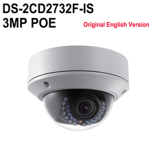 Original Hik DS-2CD2732F-IS Replace DS-2CD2735F-IS H265 H264 IP Camera Dome network camera support POE CCTV IP VF lens IPC