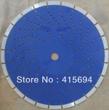 350x10x25.4-20mm cold press segmented with many holes diamond  saw blade for granite,bricks,concrete and other