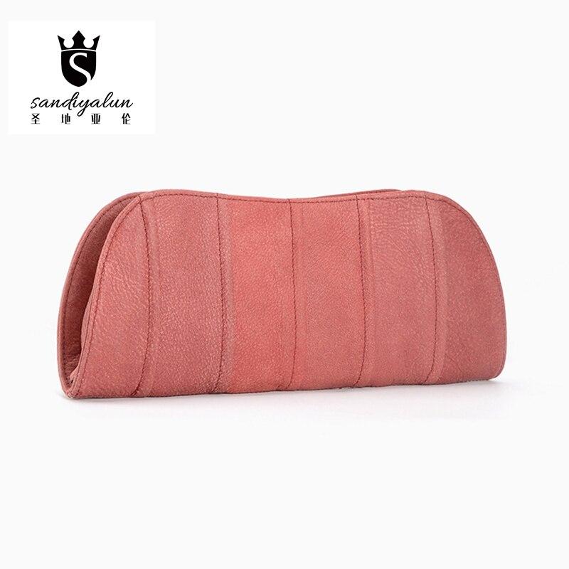 2017 New Fashion Women Genuine Leather Bag Mini Day Clutch Bag Vintage Cow Leather Hobos Cross Body Shoulder Zipper Hand Bag<br><br>Aliexpress
