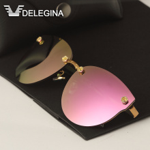 DELEGINA Ladies Luxury Polarized Sunglasses Women Sun Glasses Brand Designer Shades(China)