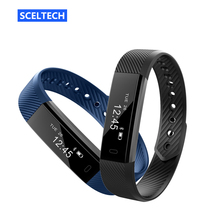 ID115 Smart Bracelet Sport Pedometer Fitness Tracker Sleep Monitor Wristband Bluetooth 4.0 Wterproot Smartband For IOS Android(China)