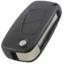 Remote Key Shell For Fiat Punto Ducato Stilo Panda Idea Doblo Bravo Keyless Fob Case 3 Buttons Car Alarm Cover Housing With Logo