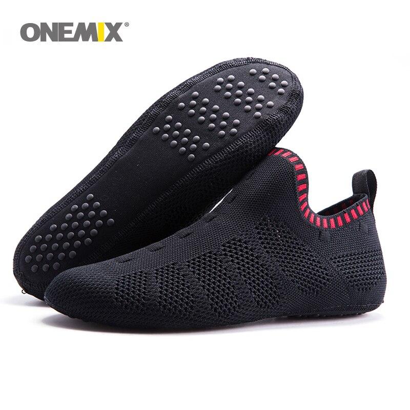 Onemix beach sandals slip-on slippers no glue environmentally friendly light cool breathable walking shoes slipper socks Indoor <br>