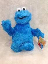High Quality SESAME STREET SOFT PLUSH Puppet Toys Cookie Monster 30cm Or 25cm(China)