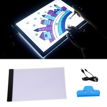 Portable USB Powered Ultra-thin A4 LED Eyesight-protected Artists Drawing Pad Animation Tracing Light Box Tablet Board with Clip