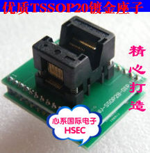 Free Shipping Original TSSOP20 to DIP20 Adapter /TSSOP8 Adapter  IC Test Socket Programmer adapter 0.65mm Pitch