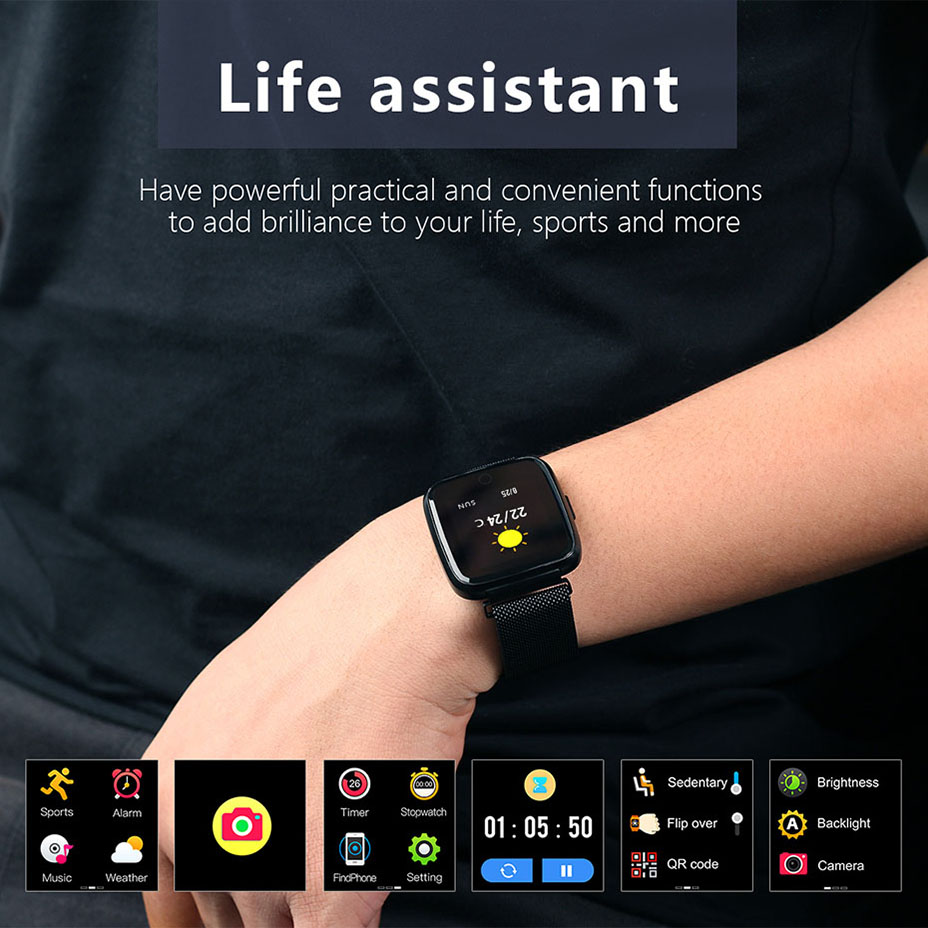 COLMI Full screen multi-touch Smart watch IP67 Waterproof Fitness Tracker Heart Rate Monitor Clock Smartwatch For Android IOS_11