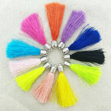 jewelry making fiber Tassel caps crimps ends earring charms tassels necklace findings rayon fringe trim keychains pendants craft